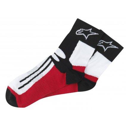 ponožky krátké RACING ROAD COOLMAX®, ALPINESTARS (černé/bílé/červené)