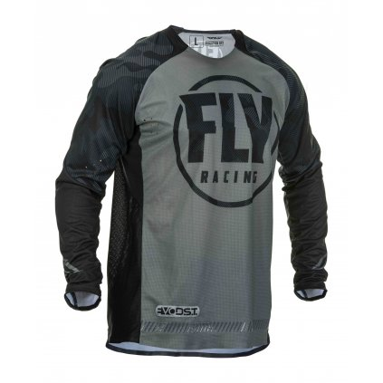 dres EVOLUTION 2020, FLY RACING - USA (černá/šedá)