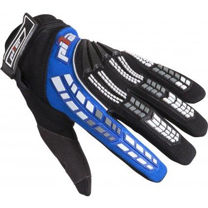 rukavice PIONEER, PILOT (černá/modrá)
