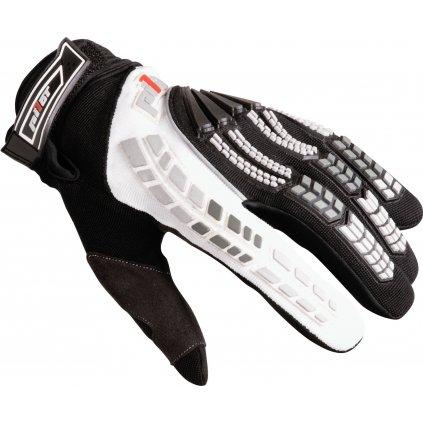 rukavice PIONEER, PILOT (černá/bílá)
