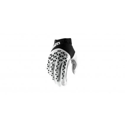rukavice AIRMATIC, 100% - USA (černá/bílá/stříbrná)