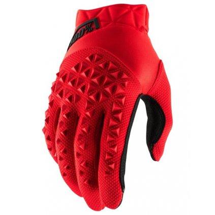 rukavice AIRMATIC, 100% (červená/černá)
