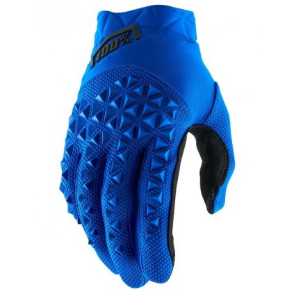 rukavice AIRMATIC, 100% (modrá/černá)