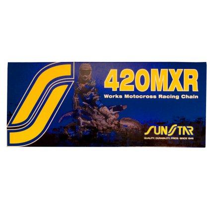 řetěz 420MXR, SUNSTAR (bezkroužek, barva zlatá, 104 článků)