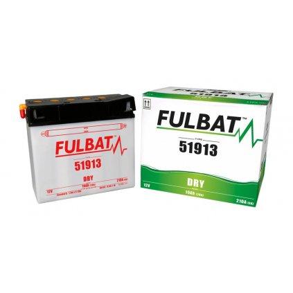 baterie 12V, 51913, 19Ah, 210A, konvenční 186x81x170, FULBAT (vč. balení elektrolytu)