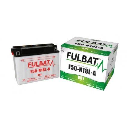 baterie 12V, F50-N18 l-A, 20Ah, 260A, konvenční 205x90x162, FULBAT (vč. balení elektrolytu)