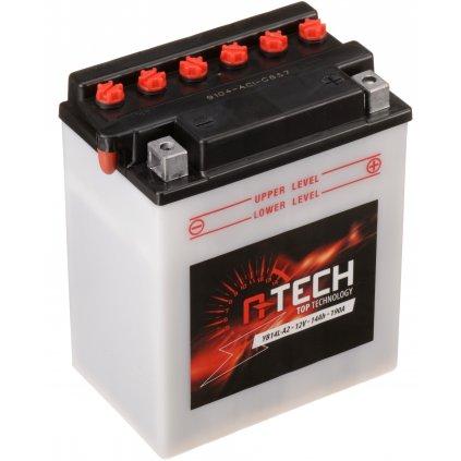 baterie 12V, YB14L-A2, 14Ah, 190A, konvenční 134x89x166 A-TECH (vč. balení elektrolytu)