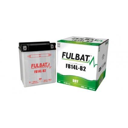 baterie 12V, FB14 l-B2, 14,7Ah, 165A, konvenční 134x89x166 FULBAT(vč. balení elektrolytu)