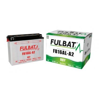baterie 12V, FB16AL-A2, 16,8Ah, 175A, konvenční 207x71,5x164 FULBAT (vč. balení elektrolytu)