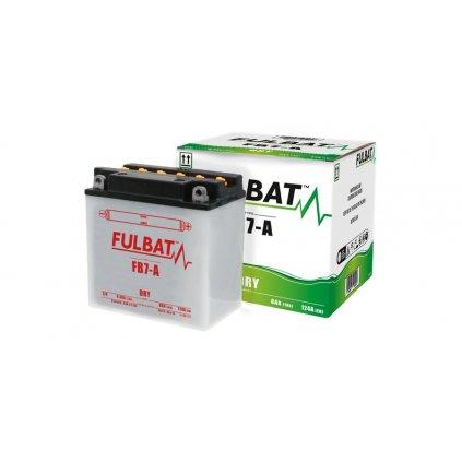 baterie 12V, FB7-A, 8Ah, 124A, konvenční 135(145)x75x133 FULBAT(vč. balení elektrolytu)