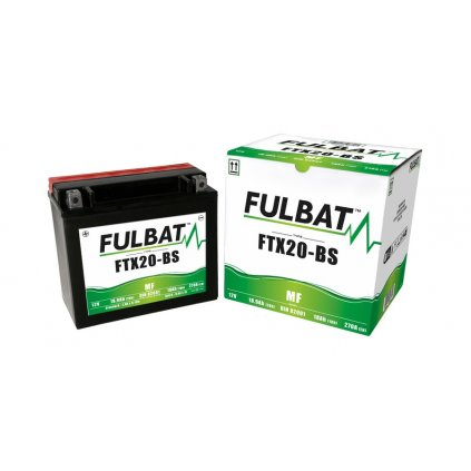 baterie 12V, FTX20-BS, 18Ah, 270A, bezúdržbová MF AGM 175x87x155 FULBAT (vč. balení elektrolytu)