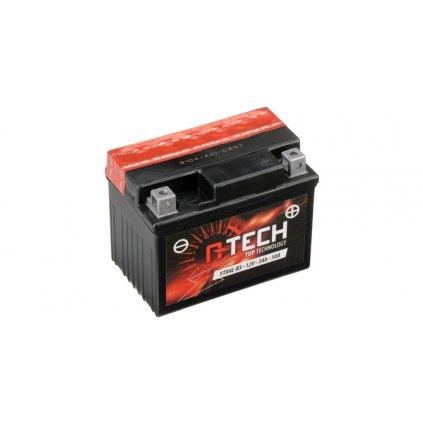 baterie 12V, YTX4L-BS, 3Ah, 50A, bezúdržbová MF AGM 114x71x86, A-TECH (vč. balení elektrolytu)