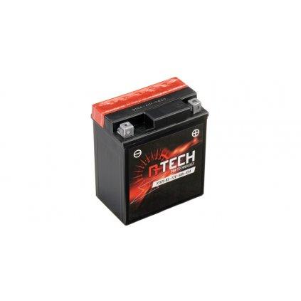 baterie 12V, YTX7L-BS, 6Ah, 85A, bezúdržbová MF AGM 114x71x134, A-TECH (vč. balení elektrolytu)