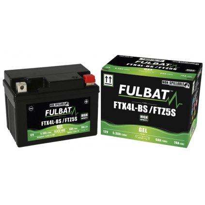 baterie 12V, FTZ5S, 4Ah, 70A, bezúdržbová MF AGM 113x70x85, FULBAT (aktivovaná ve výrobě)