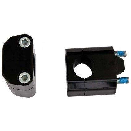 sada na zvýšení řídítek + 35 mm (průměr 22 > 28,6 mm) vč. šroubů, RTECH (černá)