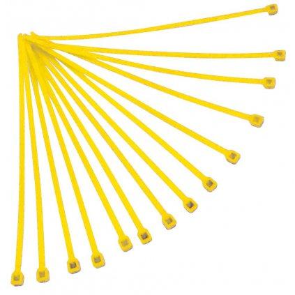 stahovací páska 180x3,6 mm, RTECH (žlutá, 100 ks)