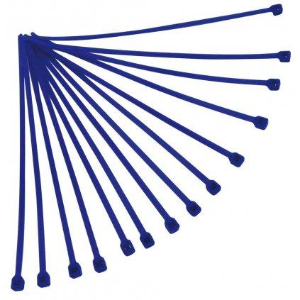 stahovací páska 180x3,6 mm, RTECH (modrá, 100 ks)