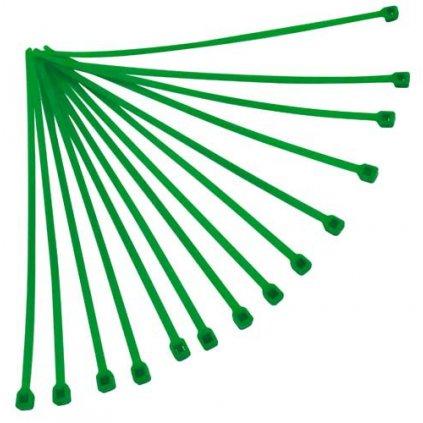 stahovací páska 180x3,6 mm, RTECH (zelená, 100 ks)