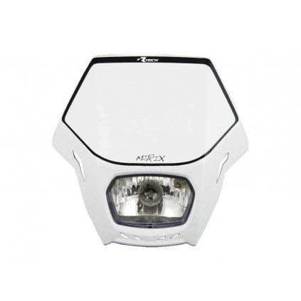 UNI přední maska včetně světla Matrix, RTECH (bílá)