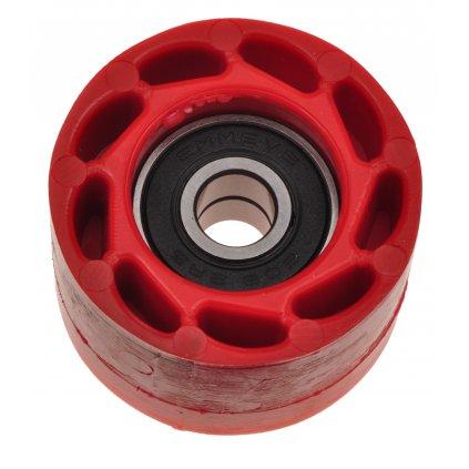 kladka řetězu Honda, RTECH (červená, vnitřní průměr 8 mm, vnější průměr 38 mm, šířka 23 mm)