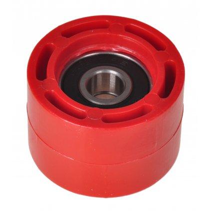 kladka řetězu Honda, RTECH (červená, vnitřní průměr 8 mm, vnější průměr 34 mm, šířka 23 mm)