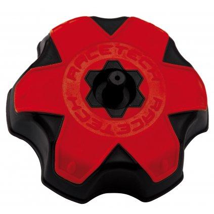 víčko nádrže Honda, RTECH (černá/červená)