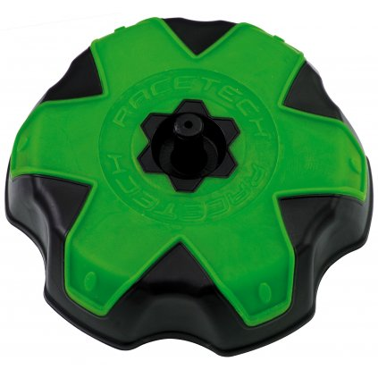 víčko nádrže Kawasaki, RTECH (černá/zelená)