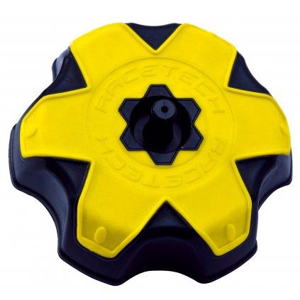 víčko nádrže Suzuki, RTECH (černá/žlutá)
