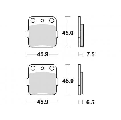 brzdové destičky, BRAKING (sinterová směs CM44) 2 ks v balení