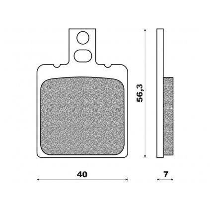 brzdové destičky (směs ROAD TT PRO ORGANIC) NEWFREN (2 ks v balení)