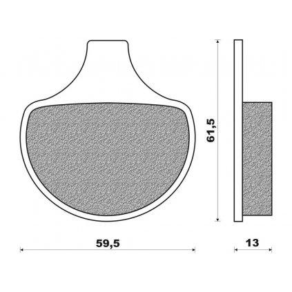 brzdové destičky (směs ROAD HD ORGANIC) NEWFREN (2 ks v balení)