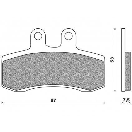 brzdové destičky (směs ROAD TOURING ORGANIC) NEWFREN (2 ks v balení)