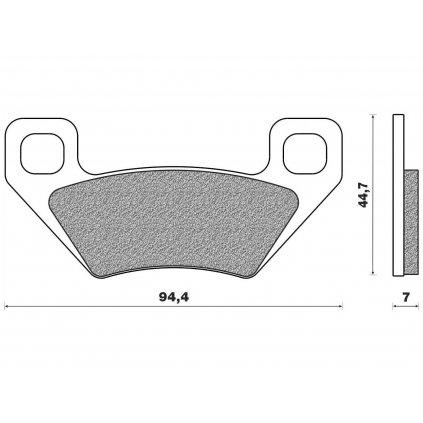 brzdové destičky (směs OFF ROAD ATV ORGANIC) NEWFREN (2 ks v balení)