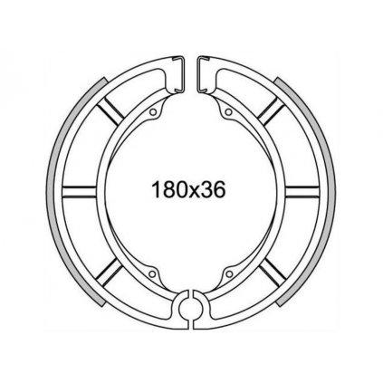 brzdové obložení (drážkované) NEWFREN (2 ks v balení)