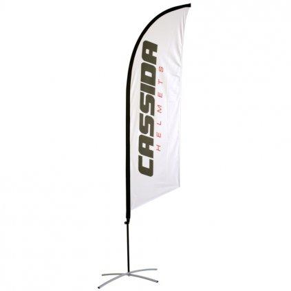 Vlajka CASSIDA bílá - vč. stojanu, zátěže a obalu, výška 2,5 m