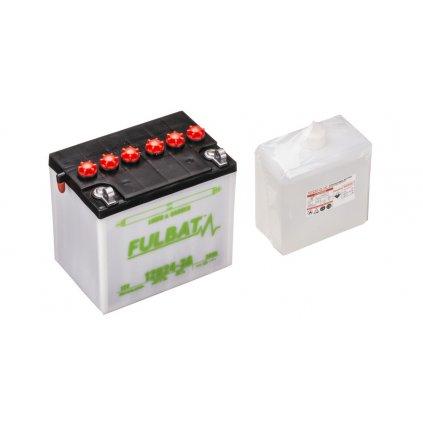 baterie 12V, 12N24-3A, 24Ah, pravá, konvenční, 184x124x175, FULBAT (vč. balení elektrolytu)