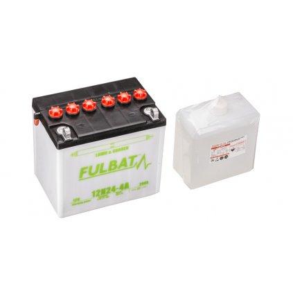 baterie 12V, 12N24-4A, 24Ah, levá, konvenční, 184x124x175, FULBAT (vč. balení elektrolytu)