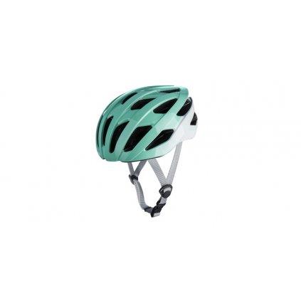 cyklo přilba RAVEN ROAD, OXFORD (tyrkysová/bílá)