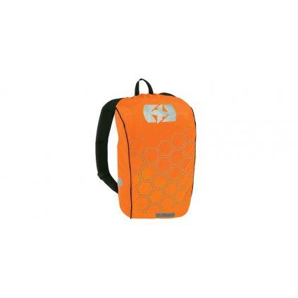 reflexní obal/pláštěnka batohu Bright Cover, OXFORD (oranžová/reflexní prvky, Š x V = 640 x 720 mm)