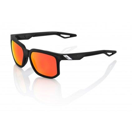 sluneční brýle CENTRIC Matte Crystal Black, 100% (zabarvená červené skla)