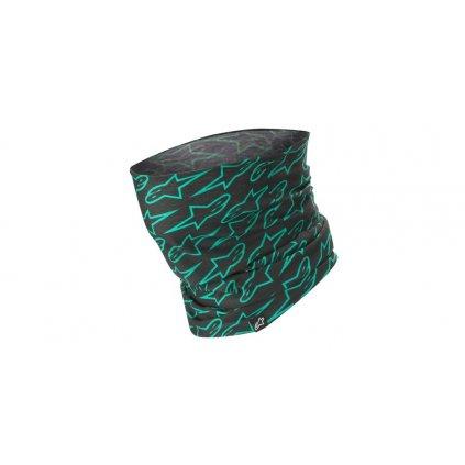nákrčník ASTARS NECK TUBE, ALPINESTARS (černá/zelená)
