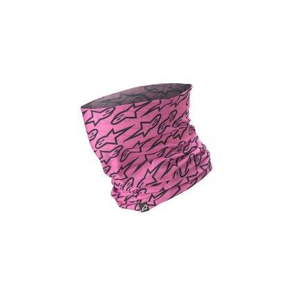 nákrčník ASTARS NECK TUBE (růžová/černá)