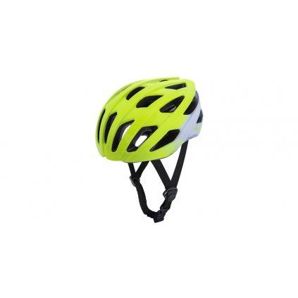 cyklo přilba RAVEN ROAD, OXFORD (žlutá fluo/bílá)