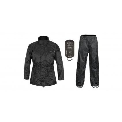 bunda a kalhoty LOW, NOX/4SQUARE (černá, reflexní prvky)
