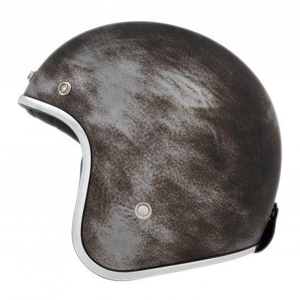 přilba N242, NOX (stříbrná matná/efekt broušeného kovu)