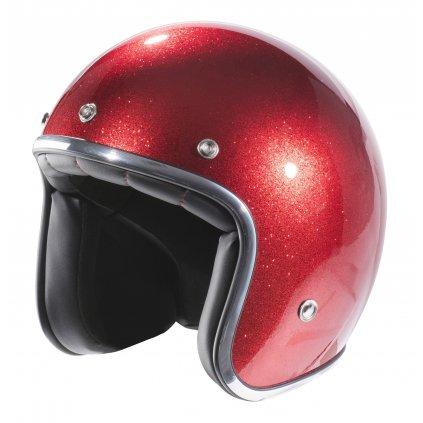 přilba N242 Glitter, NOX (červená metalická)