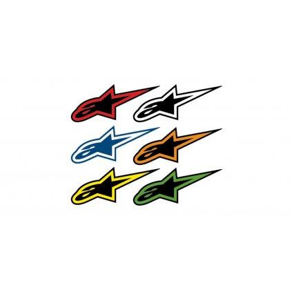 sada samolepek A-STARS, ALPINESTARS (střední velikost, sada 60ks, mix barev)