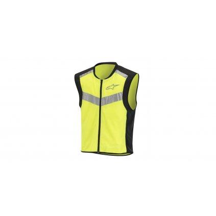 reflexní vesta FLARE NEON, ALPINESTARS (černá/žlutá fluo)