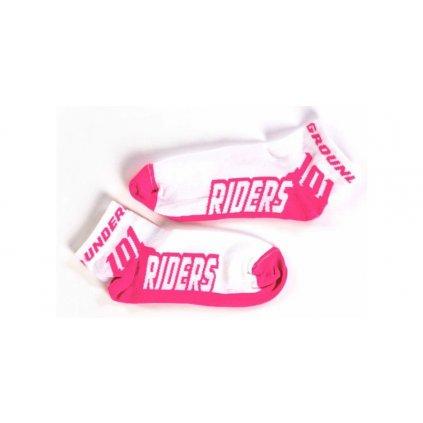 ponožky ACTION, 101 RIDERS - ČR (bílá/růžová)