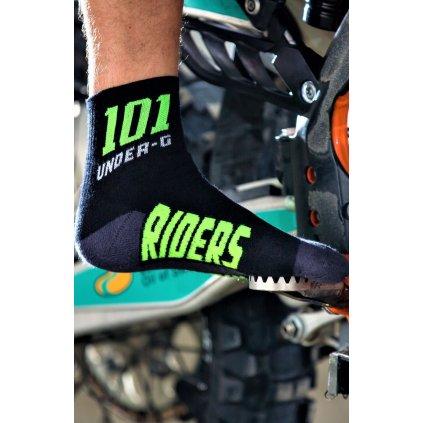 ponožky ACTION, 101 RIDERS černé/neon)